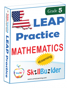 Lumos StepUp SkillBuilder + Test Prep for LEAP: Online Practice Assessments and Workbooks - Grade 5 Math