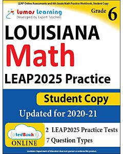 LEAP Practice tedBook® - Grade 6 Math, Student Copy