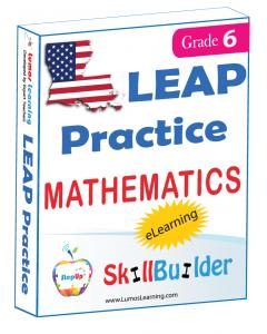 Lumos StepUp SkillBuilder + Test Prep for LEAP: Online Practice Assessments and Workbooks - Grade 6 Math