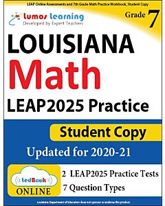 LEAP Practice tedBook® - Grade 7 Math, Student Copy
