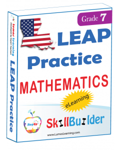 Lumos StepUp SkillBuilder + Test Prep for LEAP: Online Practice Assessments and Workbooks - Grade 7 Math
