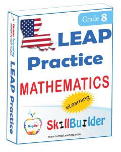 Lumos StepUp SkillBuilder + Test Prep for LEAP: Online Practice Assessments and Workbooks - Grade 8 Math