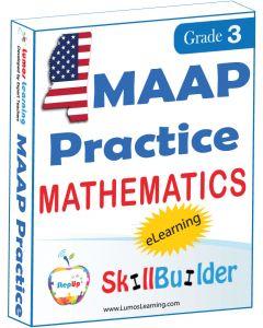 Lumos StepUp SkillBuilder + Test Prep for MAAP: Online Practice Assessments and Workbooks - Grade 3 Math