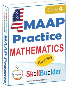 Lumos StepUp SkillBuilder + Test Prep for MAAP: Online Practice Assessments and Workbooks - Grade 4 Math