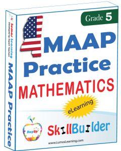 Lumos StepUp SkillBuilder + Test Prep for MAAP: Online Practice Assessments and Workbooks - Grade 5 Math