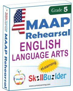 Lumos StepUp SkillBuilder + Test Prep for MAAP: Online Practice Assessments and Workbooks - Grade 5 ELA