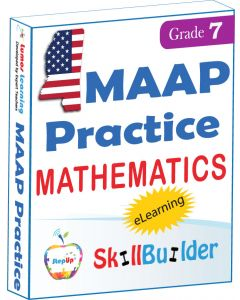 Lumos StepUp SkillBuilder + Test Prep for MAAP: Online Practice Assessments and Workbooks - Grade 7 Math