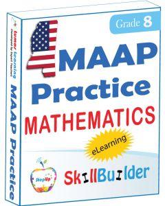 Lumos StepUp SkillBuilder + Test Prep for MAAP: Online Practice Assessments and Workbooks - Grade 8 Math