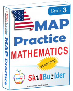 Lumos StepUp SkillBuilder + Test Prep for MAP: Online Practice Assessments and Workbooks - Grade 3 Math