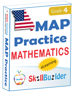 Lumos StepUp SkillBuilder + Test Prep for MAP: Online Practice Assessments and Workbooks - Grade 4 Math