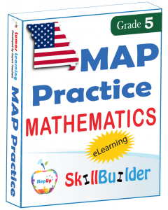 Lumos StepUp SkillBuilder + Test Prep for MAP: Online Practice Assessments and Workbooks - Grade 5 Math