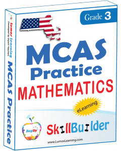 Lumos StepUp SkillBuilder + Test Prep for MCAS: Online Practice Assessments and Workbooks - Grade 3 Math