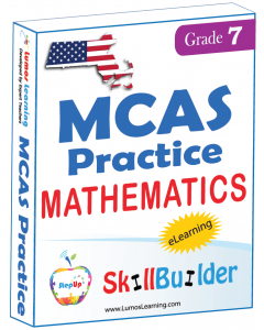 Lumos StepUp SkillBuilder + Test Prep for MCAS: Online Practice Assessments and Workbooks - Grade 7 Math