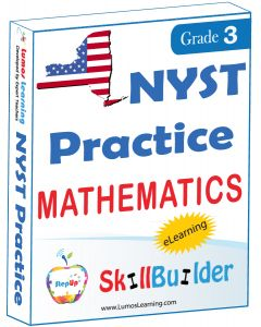Lumos StepUp SkillBuilder + Test Prep for NYST: Online Practice Assessments and Workbooks - Grade 3 Math