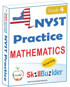 Lumos StepUp SkillBuilder + Test Prep for NYST: Online Practice Assessments and Workbooks - Grade 4 Math