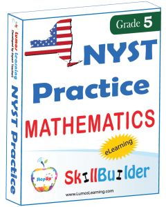 Lumos StepUp SkillBuilder + Test Prep for NYST: Online Practice Assessments and Workbooks - Grade 5 Math
