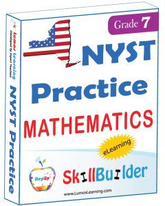 Lumos StepUp SkillBuilder + Test Prep for NYST: Online Practice Assessments and Workbooks - Grade 7 Math