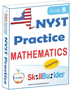 Lumos StepUp SkillBuilder + Test Prep for NYST: Online Practice Assessments and Workbooks - Grade 8 Math