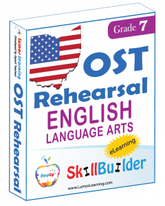 Lumos StepUp SkillBuilder + Test Prep for OST: Online Practice Assessments and Workbooks - Grade 7 ELA