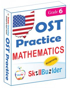 Lumos StepUp SkillBuilder + Test Prep for OST: Online Practice Assessments and Workbooks - Grade 6 Math