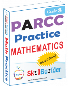 Lumos StepUp SkillBuilder + Test Prep for PARCC: Online Practice Assessments and Workbooks - Grade 8 Math