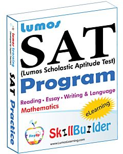 Lumos StepUp for Accelerated SAT Prep - Includes Reading, Essay, Language & Writing, and Math