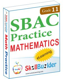 Lumos StepUp SkillBuilder + Test Prep for SBAC: Online Practice Assessments and Workbooks - Grade 11 Math