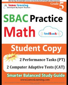 SBAC Practice tedBook® - Grade 5 Math, Student Copy