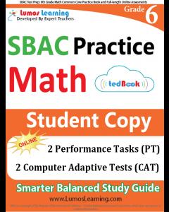 SBAC Practice tedBook® - Grade 6 Math, Student Copy