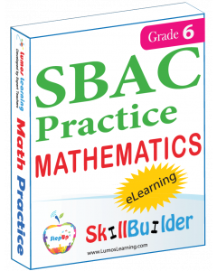 Lumos StepUp SkillBuilder + Test Prep for SBAC: Online Practice Assessments and Workbooks - Grade 6 Math