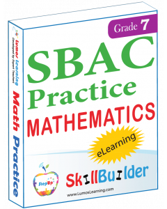 Lumos StepUp SkillBuilder + Test Prep for SBAC: Online Practice Assessments and Workbooks - Grade 7 Math