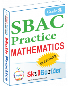 Lumos StepUp SkillBuilder + Test Prep for SBAC: Online Practice Assessments and Workbooks - Grade 8 Math