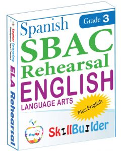 Lumos StepUp SkillBuilder + Test Prep for SBAC in Spanish: Online Practice Assessments and Workbooks - Grade 3 ELA