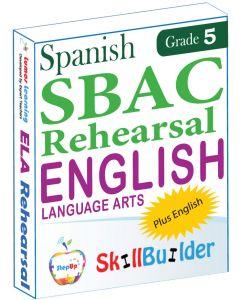 Lumos StepUp SkillBuilder + Test Prep for SBAC in Spanish: Online Practice Assessments and Workbooks - Grade 5 ELA