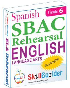 Lumos StepUp SkillBuilder + Test Prep for SBAC in Spanish: Online Practice Assessments and Workbooks - Grade 6 ELA