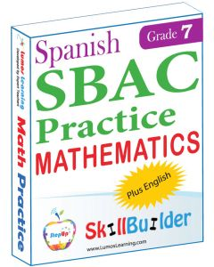 Lumos StepUp SkillBuilder + Test Prep for SBAC in Spanish: Online Practice Assessments and Workbooks - Grade 7 Math