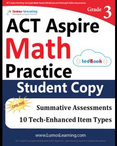 ACT Aspire Practice tedBook® - Grade 3 Math, Student Copy