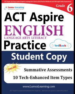 ACT Aspire Practice tedBook® - Grade 6 ELA, Student Copy