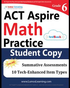ACT Aspire Practice tedBook® - Grade 6 Math, Student Copy