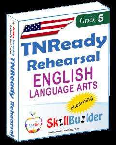 Lumos StepUp SkillBuilder + Test Prep for TNReady: Online Practice Assessments and Workbooks - Grade 5 ELA