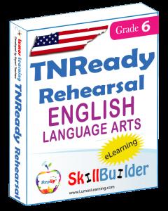 Lumos StepUp SkillBuilder + Test Prep for TNReady: Online Practice Assessments and Workbooks - Grade 6 ELA