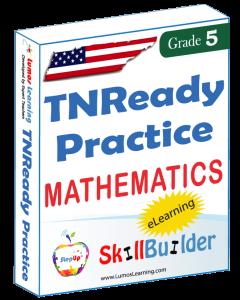 Lumos StepUp SkillBuilder + Test Prep for TNReady: Online Practice Assessments and Workbooks - Grade 5 Math