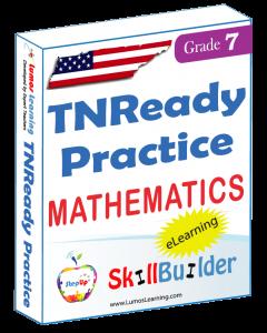 Lumos StepUp SkillBuilder + Test Prep for TNReady: Online Practice Assessments and Workbooks - Grade 7 Math