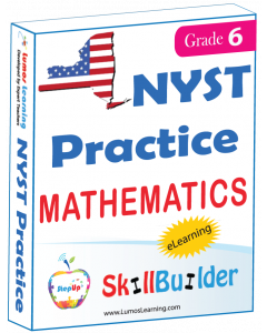 Lumos StepUp SkillBuilder + Test Prep for NYST: Online Practice Assessments and Workbooks - Grade 6 Math